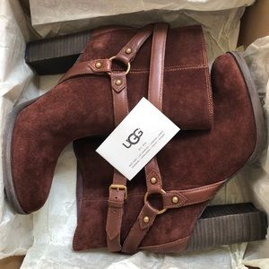 92591bddaee UGG Australia Dandridge Ankle Boot Mahogany NWT
